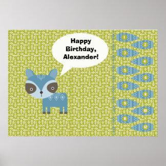 Pinアライグマのパーティー用のゲームの尾 ポスター