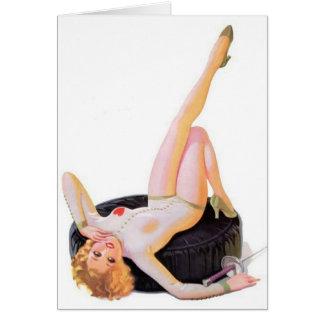 Pin女の子のメッセージカードを囲うヴィンテージ カード