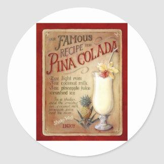 Pinaのcoladaのレシピ ラウンドシール