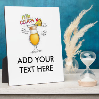 PINA COLADAのレシピのカクテルの芸術 フォトプラーク