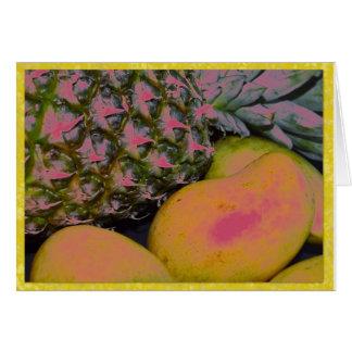 Pinapplesおよびマンゴ カード
