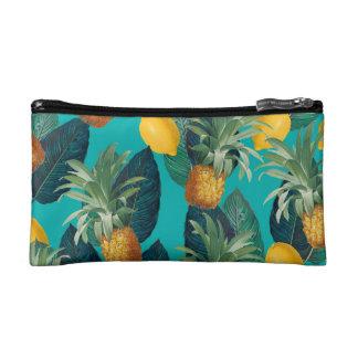 pineapleおよびレモンティール(緑がかった色) コスメティックバッグ