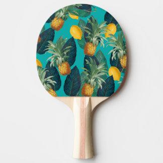 pineapleおよびレモンティール(緑がかった色) 卓球ラケット