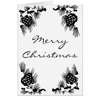 Pineconeのボーダークリスマスカード カード