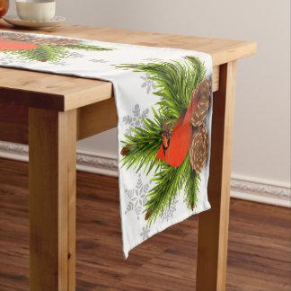 Pineconesおよび基本的なクリスマスのテーブルのランナー ショートテーブルランナー