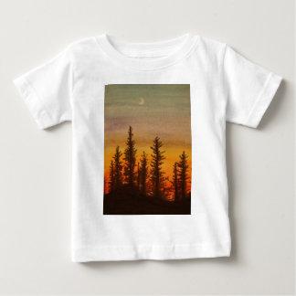 Pinetreeの日没 ベビーTシャツ