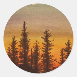 Pinetreeの日没 ラウンドシール