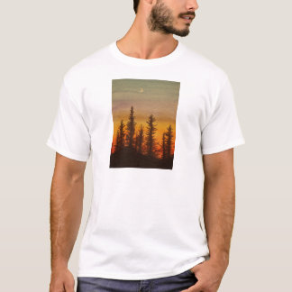 Pinetreeの日没 Tシャツ