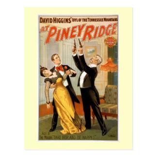 Pineyリッジのヴィンテージの劇場ポスター ポストカード