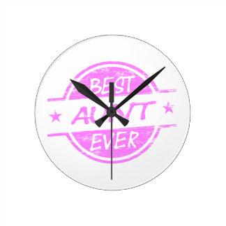 Pink最も最高のな叔母さん ラウンド壁時計