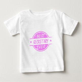 Pink最も最高のな秘書 ベビーTシャツ