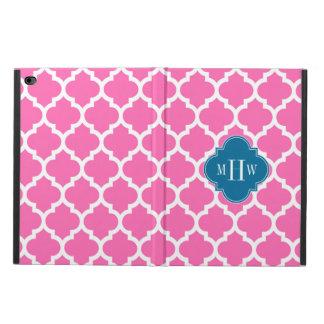 Pink2モロッコ#5孔雀青3のInitの熱いモノグラム Powis iPad Air 2 ケース