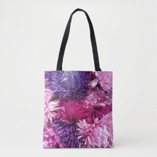 Pink And Purple Chrysanthemums トートバッグ