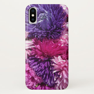 Pink And Purple Chrysanthemums iPhone X ケース