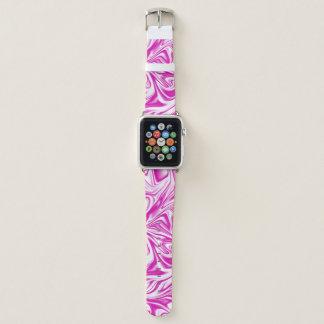 Pink and White Liquid Digital Art Apple Watchバンド