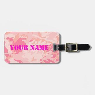 Pink Camo女性荷物のラベル ラゲッジタグ
