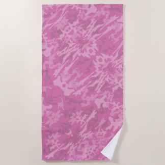 Pink Camouflage Pattern ビーチタオル