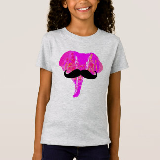 PINK ELEPHANT MUSTACHE Tシャツ