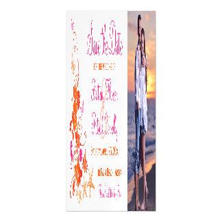 Pink, Orange Tropical Beach Save the Date Magnet マグネットカード