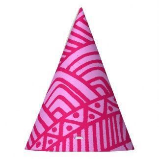 pink pattern パーティーハット