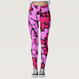 pink pattern レギンス