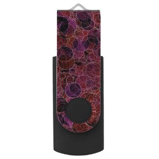 Pink_Purple_Redパターン銀 USBフラッシュドライブ