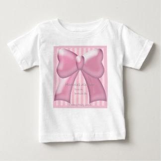 Pink Ribbon & Stripe ベビーTシャツ