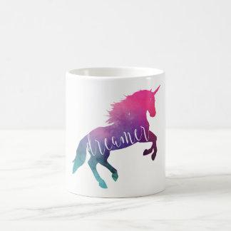 Pink Space Unicorn Dreamer コーヒーマグカップ