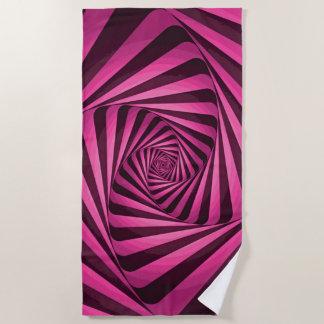 Pink Spiral ビーチタオル