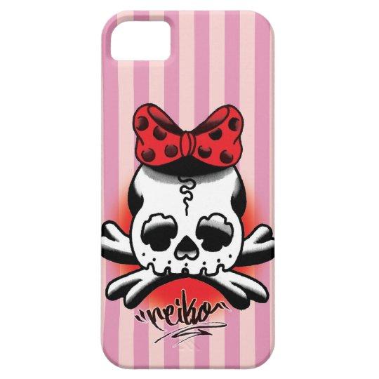 Pink Stripe Dokuro-Chan iPhone SE/5/5s ケース