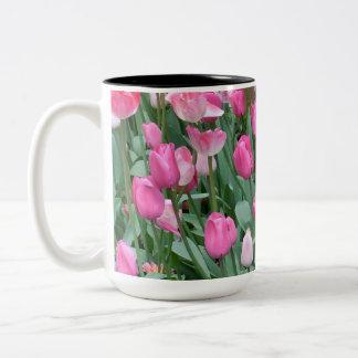 Pink Tulips ツートーンマグカップ