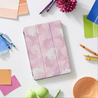 Pink Watercolor Roses Monogrammed iPad Pro Cover iPad Proカバー