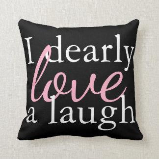 Pink, White, Black Pillow   Jane Austen Book Quote クッション