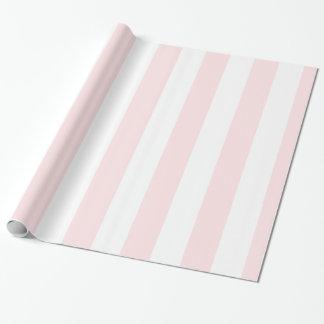 Pink White Ltの特大のストライプなパターン ラッピングペーパー