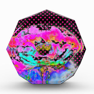 PinkPoppyの黒く、ピンクの水玉模様 表彰盾