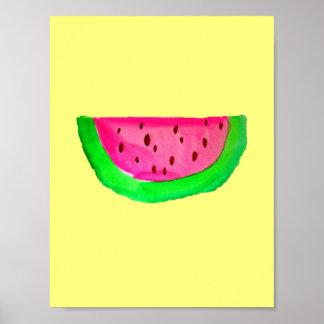PinkWatermelonのポップアートの絵画ポスター ポスター