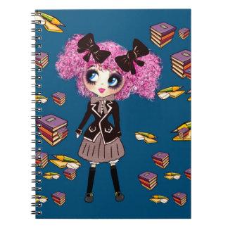 PinkyPのかわいいの女子学生のギフト ノートブック