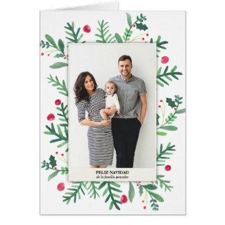 Pintura de Acuarela | Feliz Navidad カード
