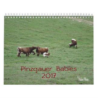 Pinzgauerのベビー2017は年をカレンダーカスタマイズ カレンダー
