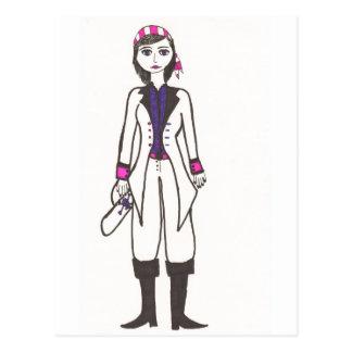 Pirate女性 ポストカード