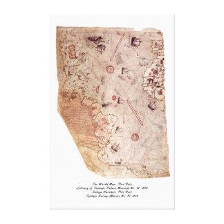 Piri Reisの旧世界の地図 キャンバスプリント