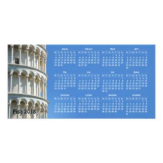 Pisa, Italy 2018 calendar カード