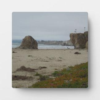 Pismoのビーチの海岸線に沿う崖 フォトプラーク