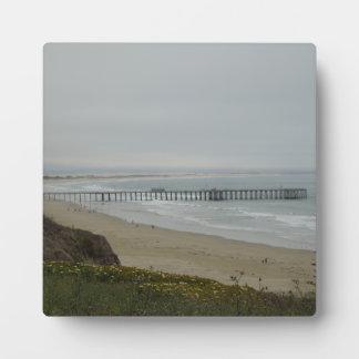 Pismoのビーチ、カリフォルニアの桟橋 フォトプラーク