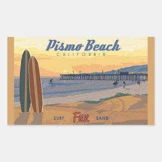 PismoのビーチCaliforina 長方形シール
