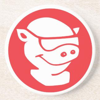 Pitmasterのロゴの砂岩コースター コースター