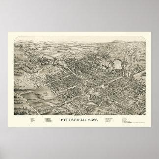 PittsfieldのMAのパノラマ式の地図- 1899年 ポスター