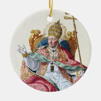 Pius法皇「Receuil des EstampesからのVI (1717-99年)、 セラミックオーナメント