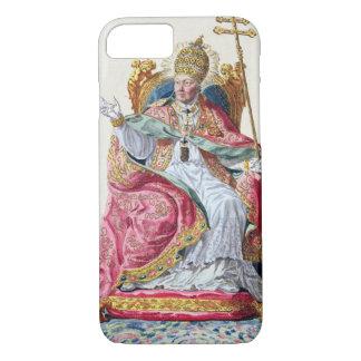Pius法皇「Receuil des EstampesからのVI (1717-99年)、 iPhone 8/7ケース