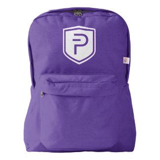 PIVXのアメリカ人のApparel™のバックパック、アメジスト American Apparel™バックパック